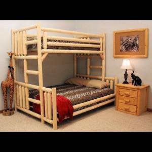 Dvoupatrová dřevěná postel, CP02